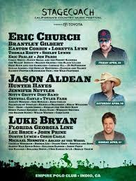 Stagecoach Festival 2014 Lineup Luke Bryan Eric Church Jason Aldean And More
