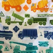 100 Trucks With Tracks Circo Sheet Set Multicolor Size Queen Check