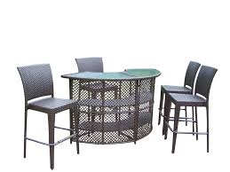 Oakland Living Elite Resin Wicker Half-Round 5 Pc. Bar Set W/ Bar Table And  4 Bar Stools Outdoor Wicker Chairs Table Cosco Malmo 4piece Brown Resin Patio Cversation Set With Blue Cushions Panama Pecan Alinum And 4 Pc Cushion Lounge Ding 59 X 33 In Slat Top Suncrown Fniture Glass 3piece Allweather Thick Durable Washable Covers Porch 3pc Chair End Details About Easy Care Two Natural Sorrento 5 Cast Woven Swivel Bar 48 Round Jeco Inc W00501rg Beachcroft 7 Piece By Signature Design Ashley At Becker World Love Seat And Coffee Belham Living Montauk Rocking