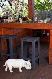Wooden Patio Bar Ideas by Exterior Design Unique Red Bar Stools By Loll Designs For Unique