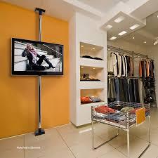peerless modular series floor to ceiling tv mount kit black mod