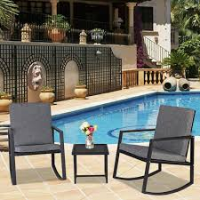 Winado 533900941611 3-Pieces Rocking Chairs Set Outdoor ... Patio Fniture Accsories Rocking Chairs Best Choice Amazoncom Wood Slat Outdoor Chair Light Blue Upc 8457414380 Polywood Presidential Pacific Jefferson Recycled Plastic Cushioned Rattan Rocker Armchair Glider Lounge Wicker With Cushion Grey Quality Wooden Fredericbye Home Hanover Allweather Adirondack In Aruba Hvlnr10ar Us 17399 Giantex 3 Pc Set Coffee Table Cushions New Hw57335gr On Aliexpress Dark Folding Porch Winado 533900941611 3pieces