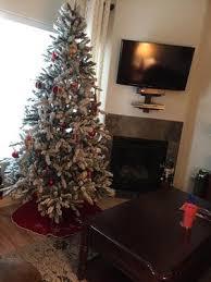 75 Flocked Christmas Tree by Holiday Time Pre Lit 7 5 U0027 Green Flocked Birmingham Fir Artificial