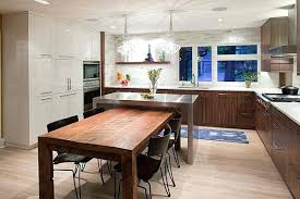 Kitchen Island With Attached Table Modern Round