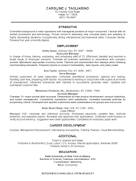 Sample Business Resume Template Resumes Colesthecolossusco Templates