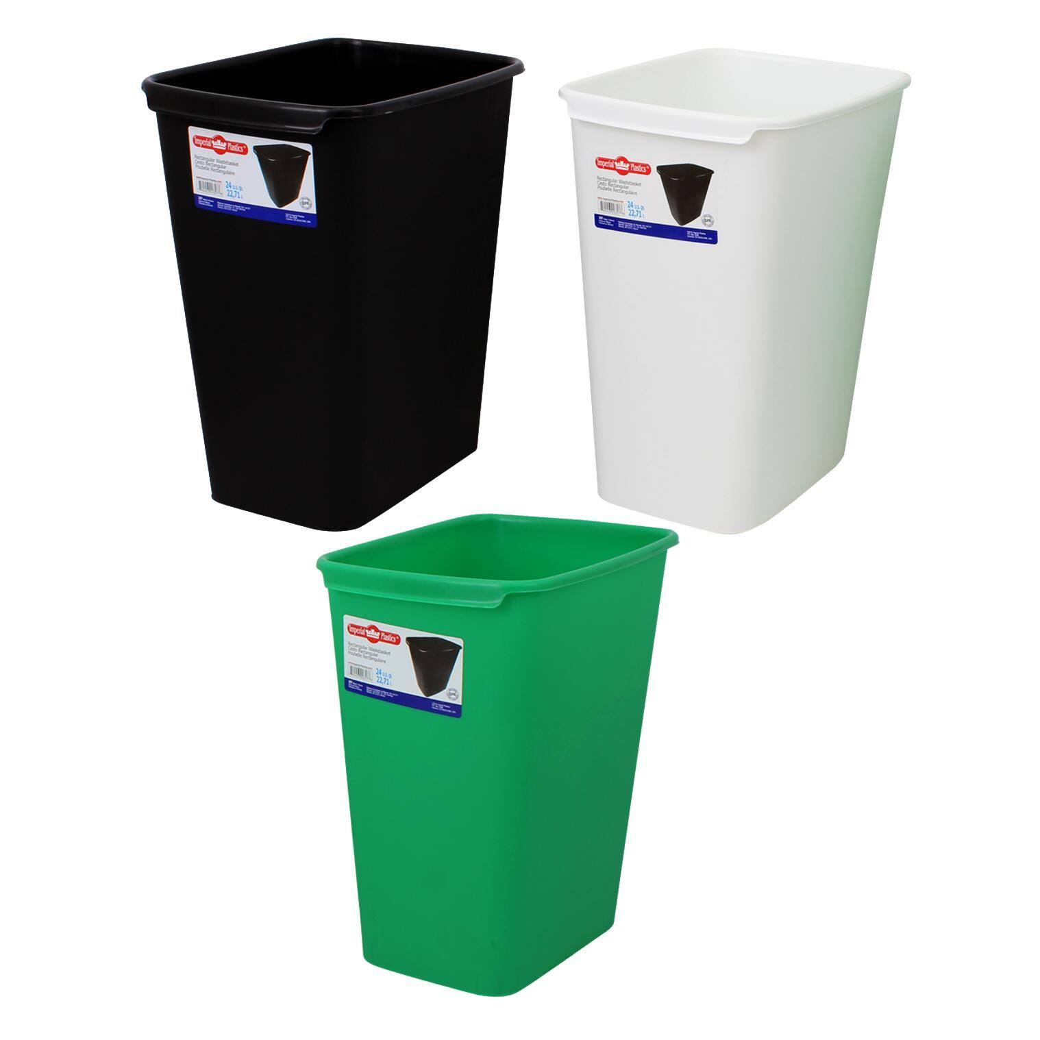 DDI 2335477 24 qt Waste Basket - Assorted Color (Pack of 12)