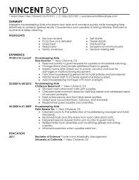 Job Resume Objective Cleaning Manager Sample Housekeeping Within