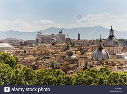 100 Angelos Landscape View Of Rome From The Top Of Sant Castle Stock