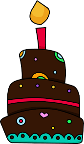 Free clipart of a birthday cake image