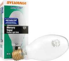 sylvania 175w mercury vapor hid light bulb at menards