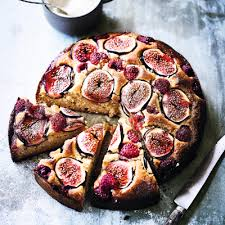Diana Henrys Fig Raspberry Hazelnut Honey Cake