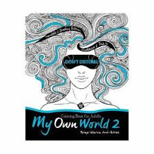 Coloring Book For Adults My Own World Jual Grazera 2