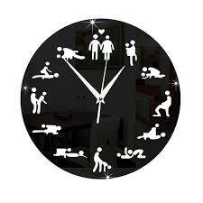 la chambre du sexe 3d de sexe amusant horloge murale adulte chambre décoration