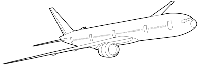 777 mercial Airplane Clipart 1