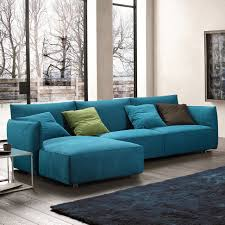 Teal Living Room Set by Furniture Ricardo Convertible Sectional Sofa In Leather Black For