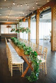 Drapery Greenery Wedding Ceremony Rustic Indoor Table Ideas