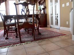 Tile Floor In Dining Room