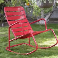 Amazon.com : Contemporary Adley Outdoor Red Metal Slat ... Charleston Acacia Outdoor Rocking Chair Soon To Be Discontinued Ringrocker K086rd Durable Red Childs Wooden Chairporch Rocker Indoor Or Suitable For 48 Years Old Beautiful Tall Patio Chairs Folding Foldable Fniture Antique Design Ideas With Personalized Kids Keepsake 3 In White And Blue Color Giantex Wood Porch 100 Natural Solid Deck Backyard Living Room Rattan Armchair With Cushions Adams Manufacturing Resin Big Easy Crp Products Generations Adirondack Liberty Garden St Martin Metal 1950s Vintage Childrens