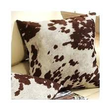 Rustic Throw Pillows Accent Southwestern Decor Cowhide Patterned Style