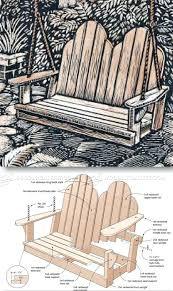 Adirondack Swing Chair Plans Swing Plans Outdoor Furniture Plans