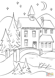 Click The Winter Village Coloring Pages To View Printable Version Or Color It Online Compatible With IPad And Android Tablets