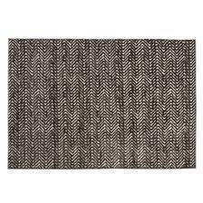 5x7 Brown Zigzag Reflective Area Rug