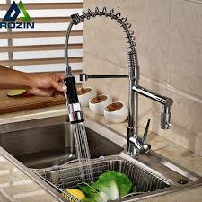 Kitchen Faucet Water Single Handle Swivel Dual Spout Kitchen Faucet Water Deck