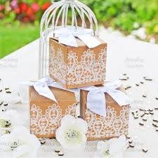 Rustic Lace Vintage Shabby Chic Wedding Favour Boxes