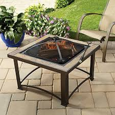 Bed Bath And Beyond Patio Furniture Covers by 32 Inch Slate Firepit With Cover Bed Bath U0026 Beyond
