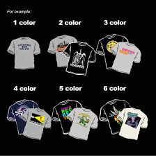 On Darker Colored Garments Making It A Two Color Print Each Pass Of An Ink Through The Screen Is Considered