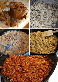 Toasting Pumpkin Seeds In The Oven by Spiced Honey Roasted Pumpkin Seeds The Chunky Chef
