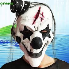 Creepy Clown Pumpkin Stencils by Aliexpress Com Buy Party Mask Halloween Scary Clown Latex Rubber