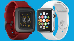 Pebble Time v Apple Watch The iPhone patible smartwatch fight