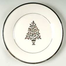Lenox Christmas China Solitaire Accent Luncheon Plate Discontinued