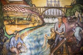 california industrial scenes mural in coit tower painting by adam