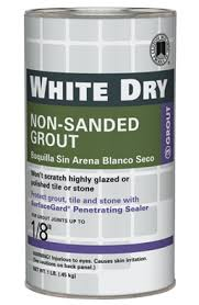 white dry non sanded grout custom building products