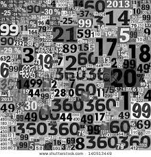 Designed Background Collage Numbers Made Newspaper Stock Within Black And White 2018