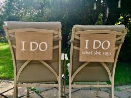 I DO & I Do What She Says Chair Hangings In Burlap Wedding | Etsy Table Runner Rustic Theme Wedding Decoration Contain Burlap Chair Sashes Cover Jute Tie Bow Burlap Table Runner To Make Folding Covers Mappyhub Design Diy Holidayinspired Im A Little Sunflower Inspiration At The Barn Williams Manor Decor Detail Feedback Questions About Wedding Decoration Chairs Dpc Event Services Easy Lip Gloss And Power Tools Amazoncom With Lace Shabby Chic Padded White Celebrations Party Rentals 17cm X 275cm Naturally Vintage Jute Im A Little Best