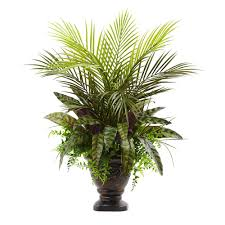 Nearly Natural 27 in Mixed Areca Palm Fern and Peacock with