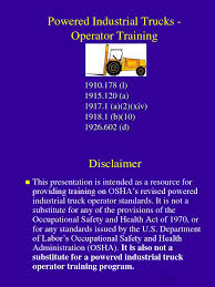 100 Powered Industrial Truck Training Forklift Pit Ppt Forklift