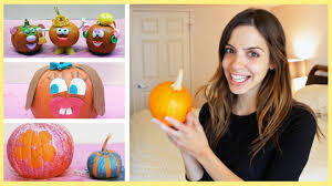 Funny Pumpkin Carvings Youtube by Play 3 Pumpkin Decorating Ideas For Toddlers No Carving Youtube