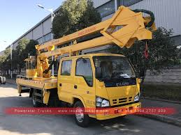 100 Truck Mounted Boom Lift Isuzu Sewer Cleaning S Aerial Work