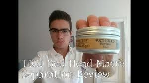 tigi bed head matte separation review workable wax men s hair