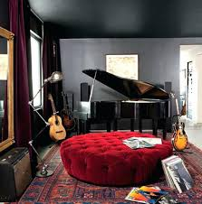 Divine Design Gold Piano Is Centerpiece Of Black White Room Music