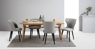 2 x stig dining chairs grey and black made com