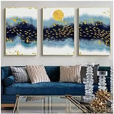 srdfdf nordic poster blau gelb abstrakt leinwand malerei