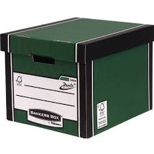 bankers box storage box 40 l wood grain 303 x 342 x 400 mm