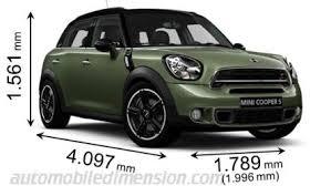 dimensions des voitures mini longueur x largeur x hauteur