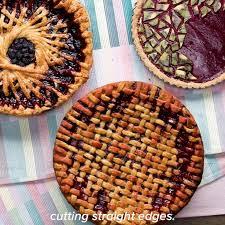 blueberry geometric spoke pie desserts dessert recipes