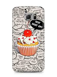 COVER Cupcake Comic Handy Hulle Case 3D Druck Top Qualitat Kratzfest Samsung Galaxy S6